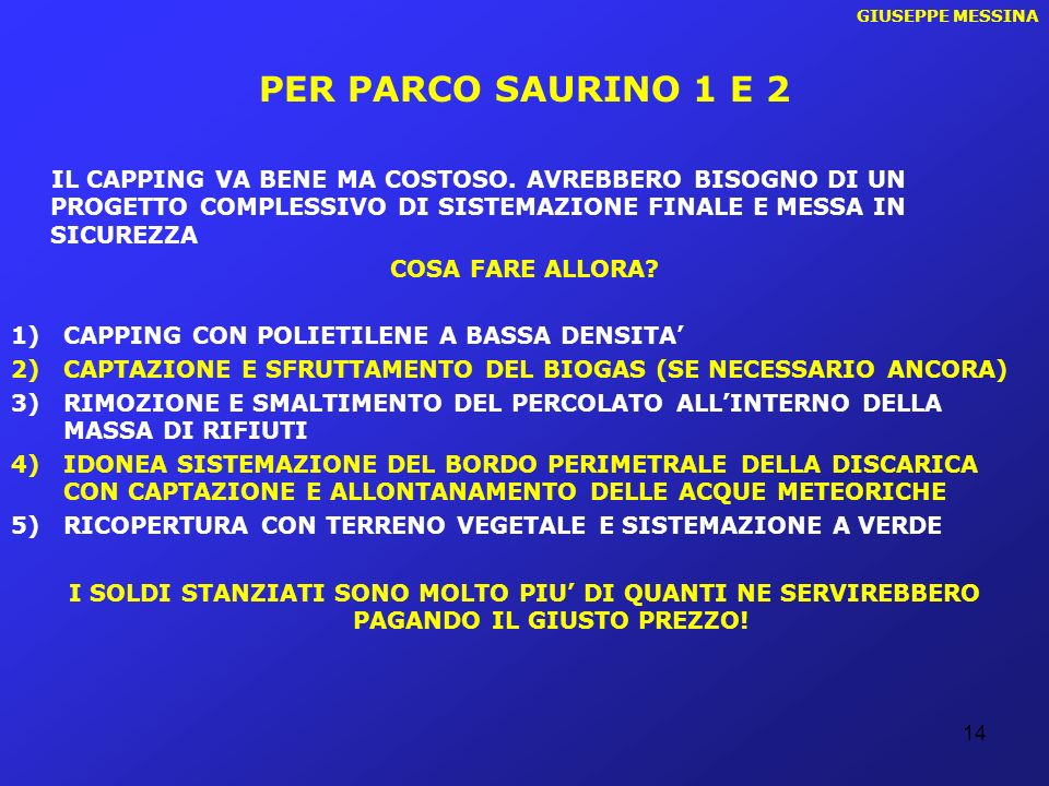 GIUSEPPE MESSINA PER PARCO SAURINO 1 E 2.