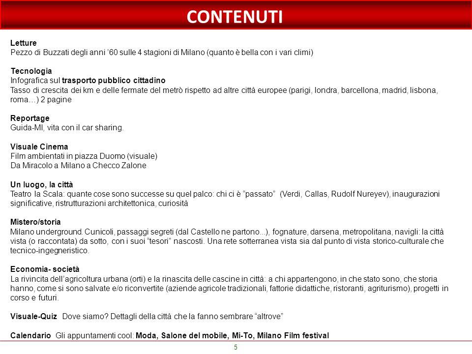 CONTENUTI Letture. Pezzo di Buzzati degli anni '60 sulle 4 stagioni di Milano (quanto è bella con i vari climi)