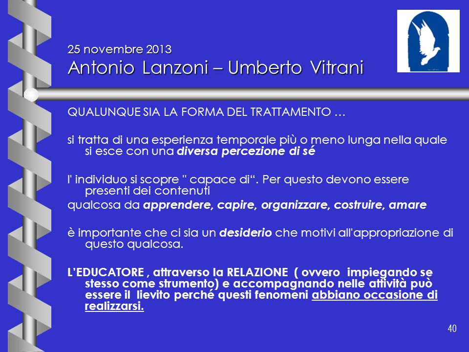 25 novembre 2013 Antonio Lanzoni – Umberto Vitrani
