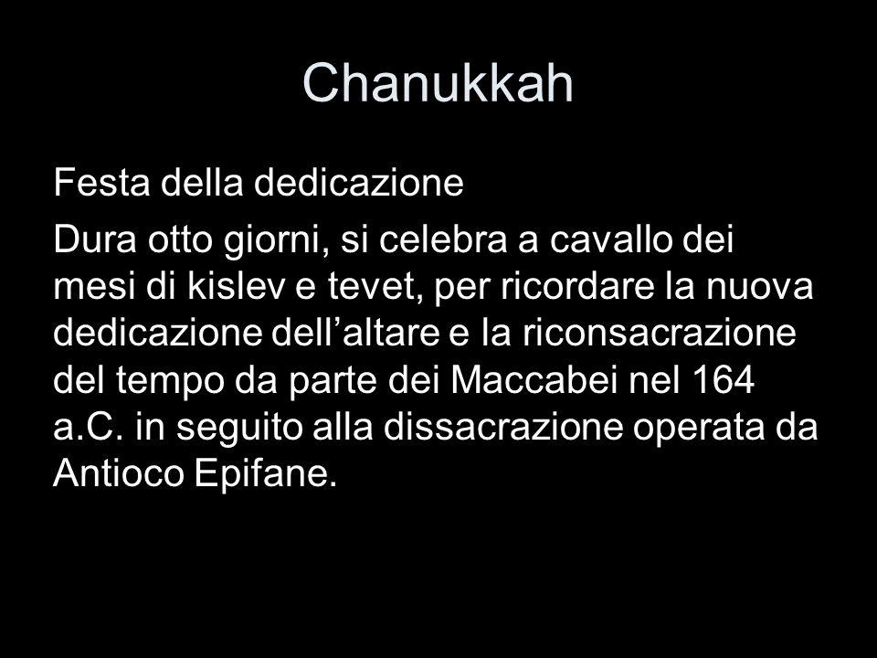 Chanukkah Festa della dedicazione