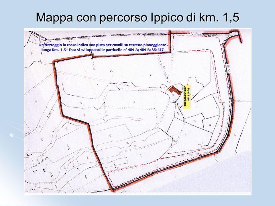 Mappa con percorso Ippico di km. 1,5