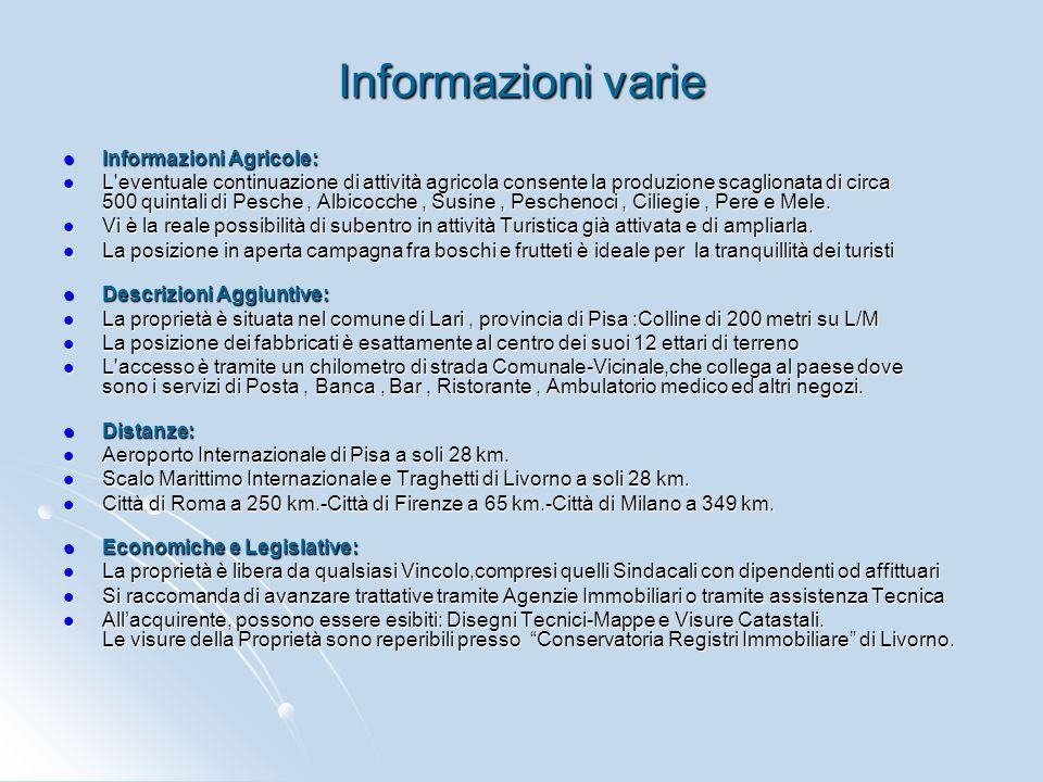 Informazioni varie Informazioni Agricole: