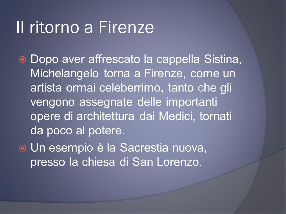 Il ritorno a Firenze
