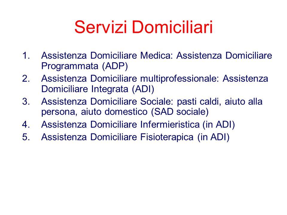 Servizi DomiciliariAssistenza Domiciliare Medica: Assistenza Domiciliare Programmata (ADP)