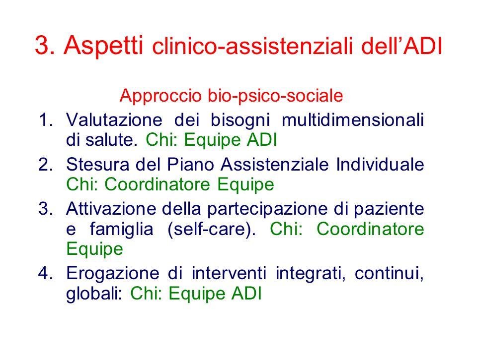 3. Aspetti clinico-assistenziali dell'ADI