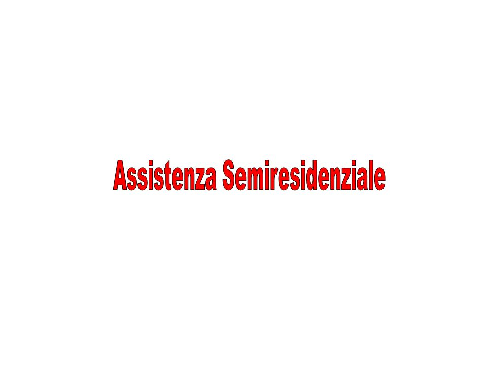 Assistenza Semiresidenziale