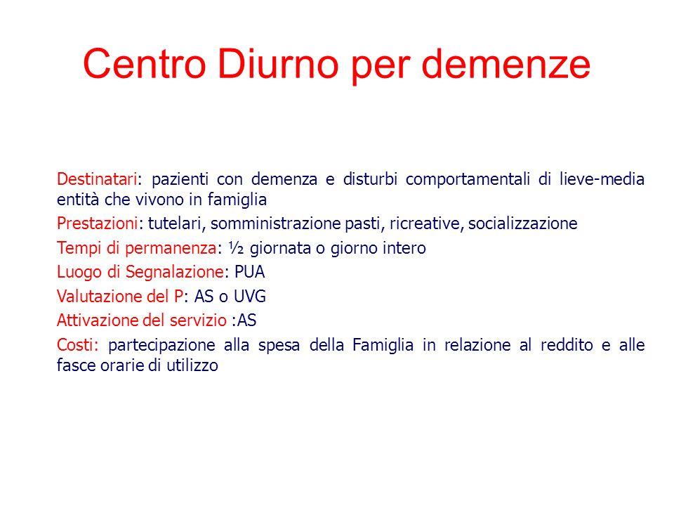 Centro Diurno per demenze