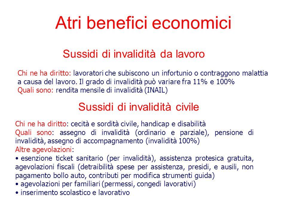 Atri benefici economici