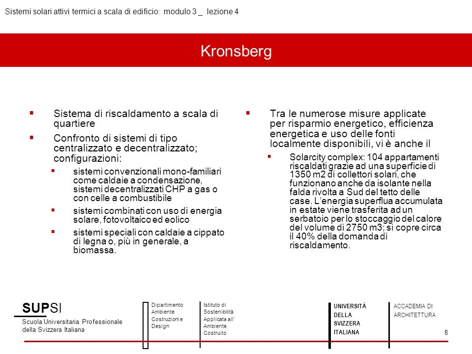 Kronsberg Sistema di riscaldamento a scala di quartiere