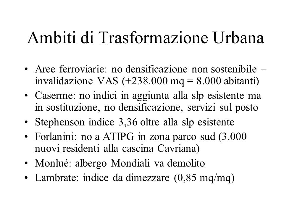 Ambiti di Trasformazione Urbana