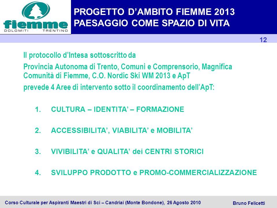 PROGETTO D'AMBITO FIEMME 2013 PAESAGGIO COME SPAZIO DI VITA