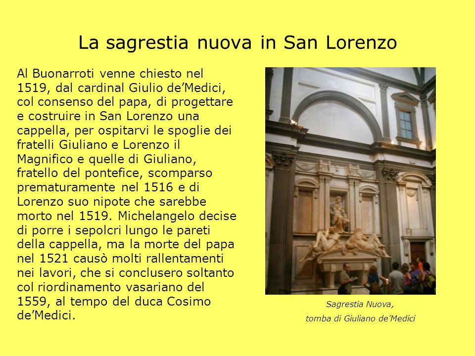 La sagrestia nuova in San Lorenzo