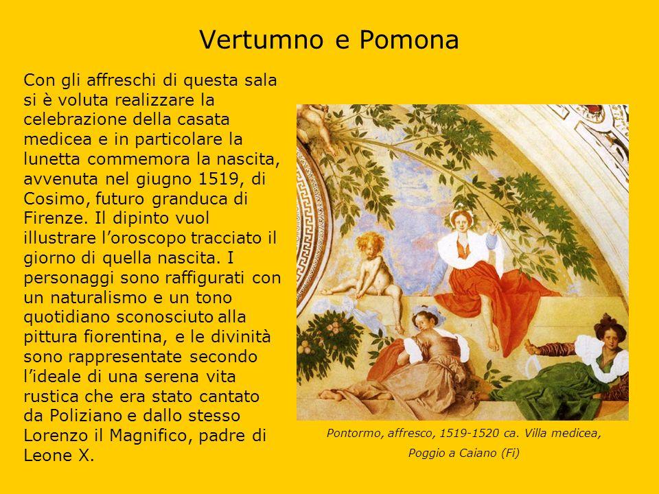Pontormo, affresco, 1519-1520 ca. Villa medicea,