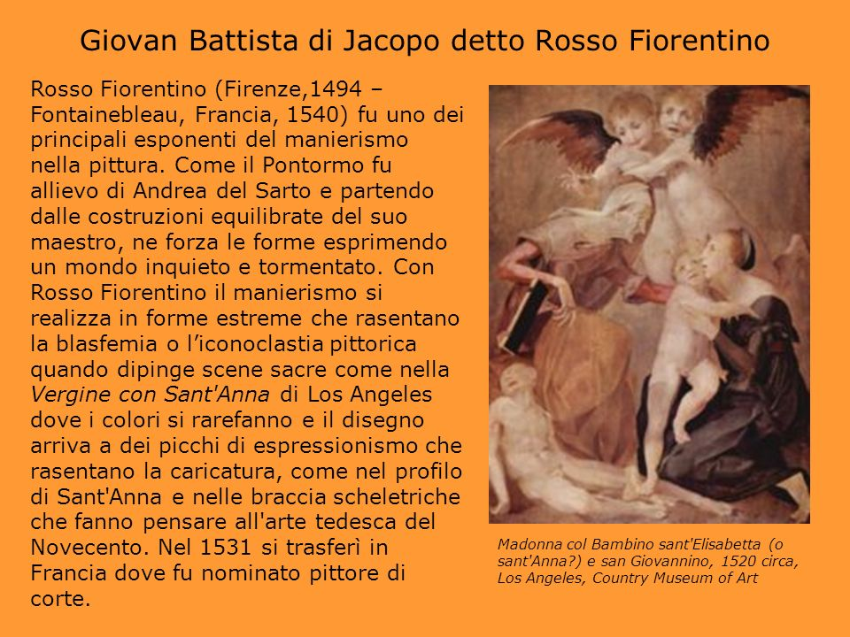 Giovan Battista di Jacopo detto Rosso Fiorentino