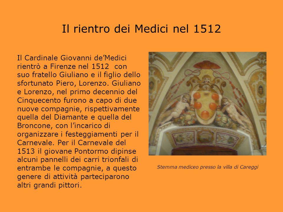 Il rientro dei Medici nel 1512