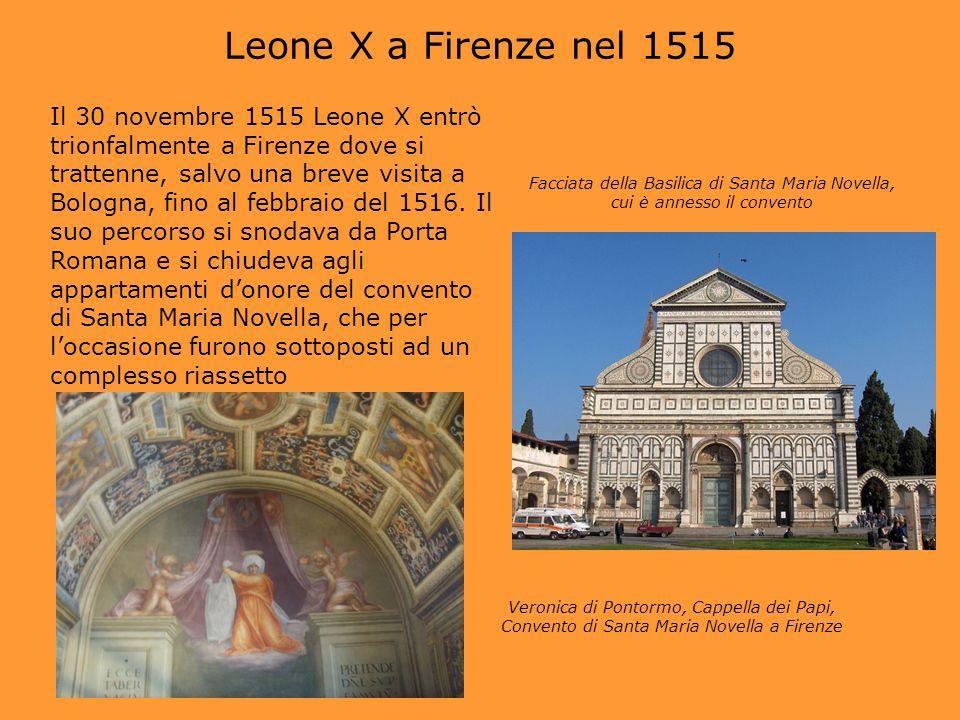 Leone X a Firenze nel 1515