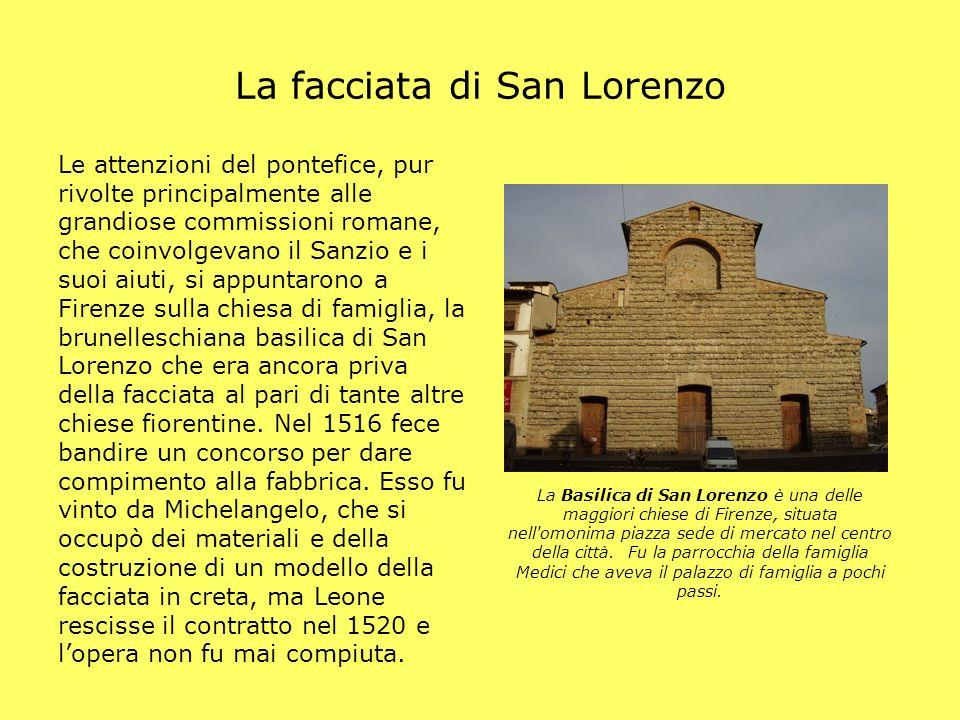 La facciata di San Lorenzo