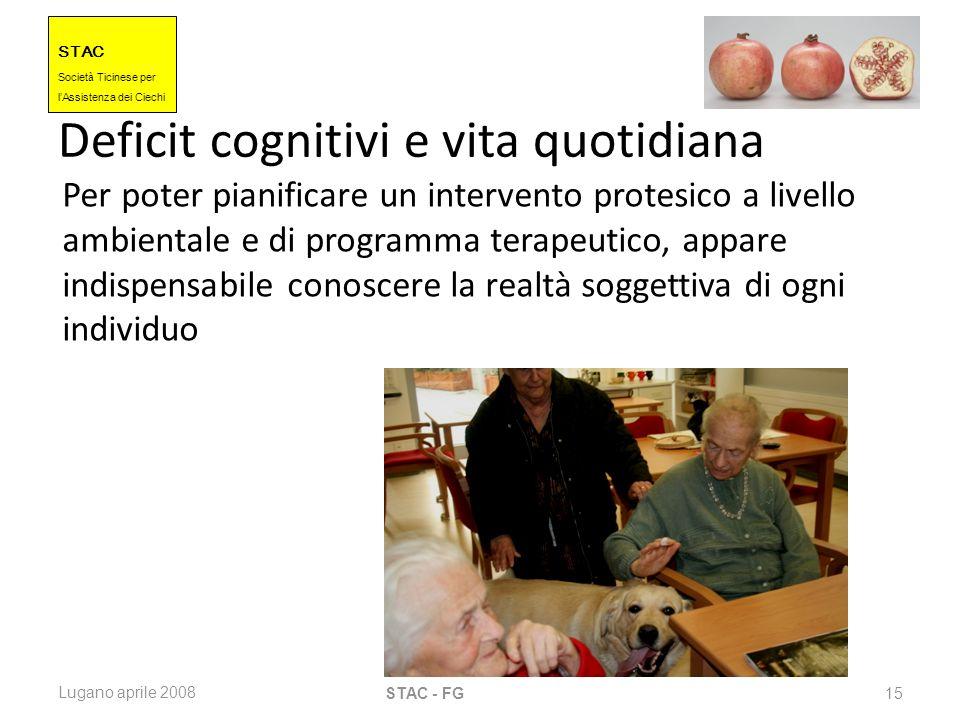 Deficit cognitivi e vita quotidiana