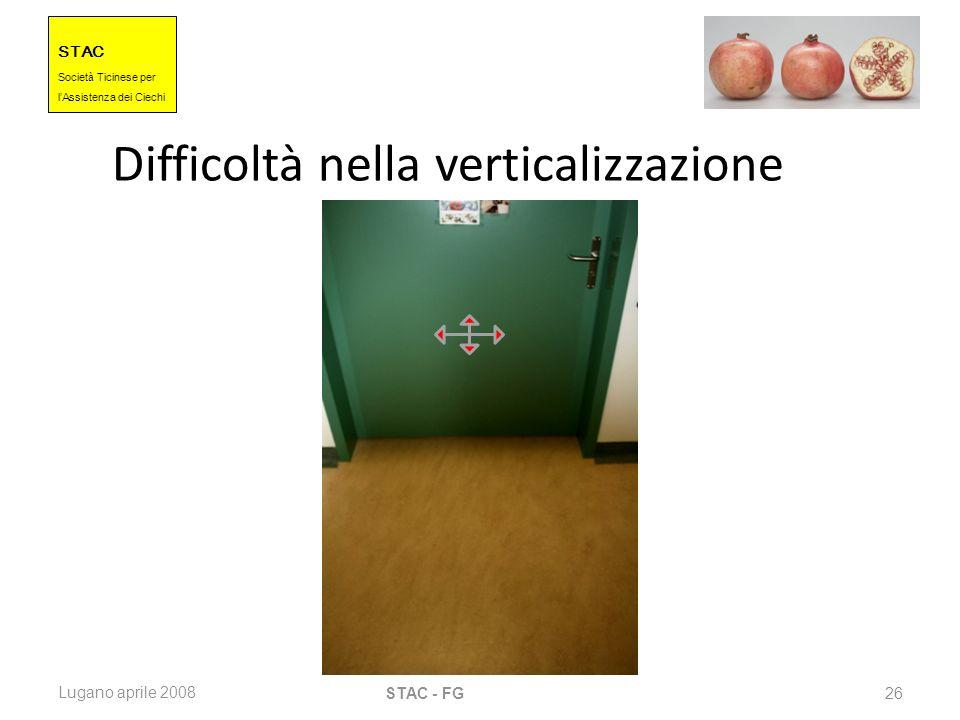 Difficoltà nella verticalizzazione