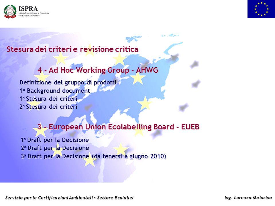 Stesura dei criteri e revisione critica