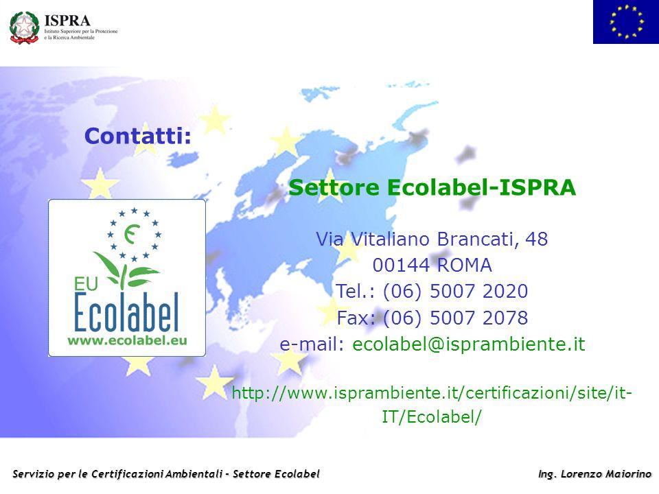 Settore Ecolabel-ISPRA