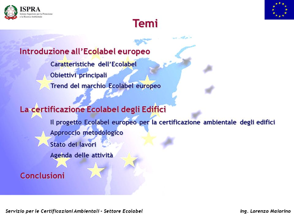Temi Introduzione all'Ecolabel europeo