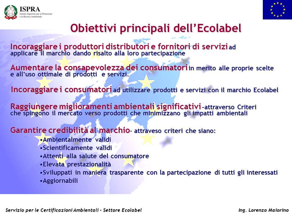 Obiettivi principali dell'Ecolabel