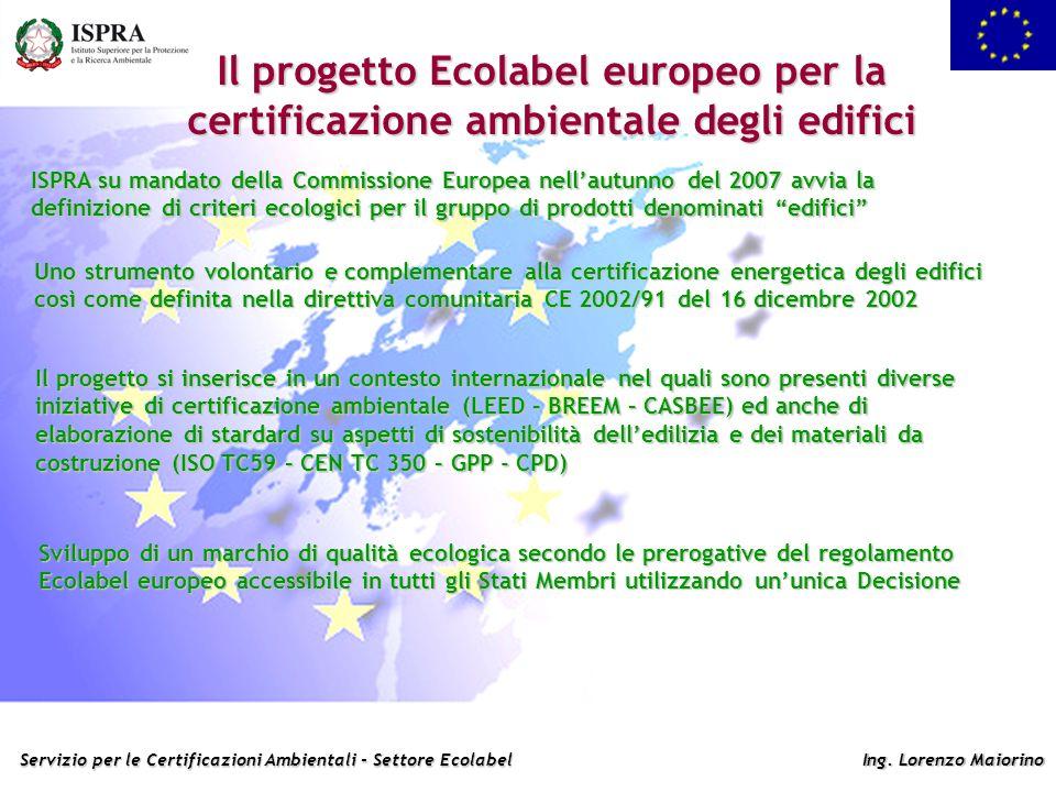 Il progetto Ecolabel europeo per la certificazione ambientale degli edifici
