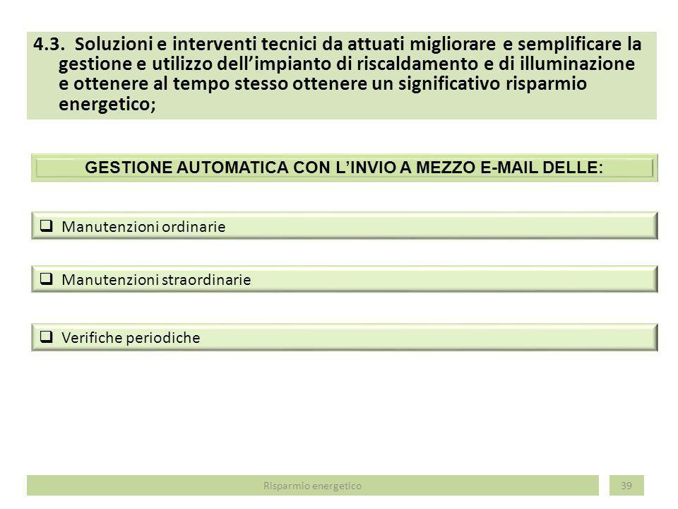 GESTIONE AUTOMATICA CON L'INVIO A MEZZO E-MAIL DELLE: