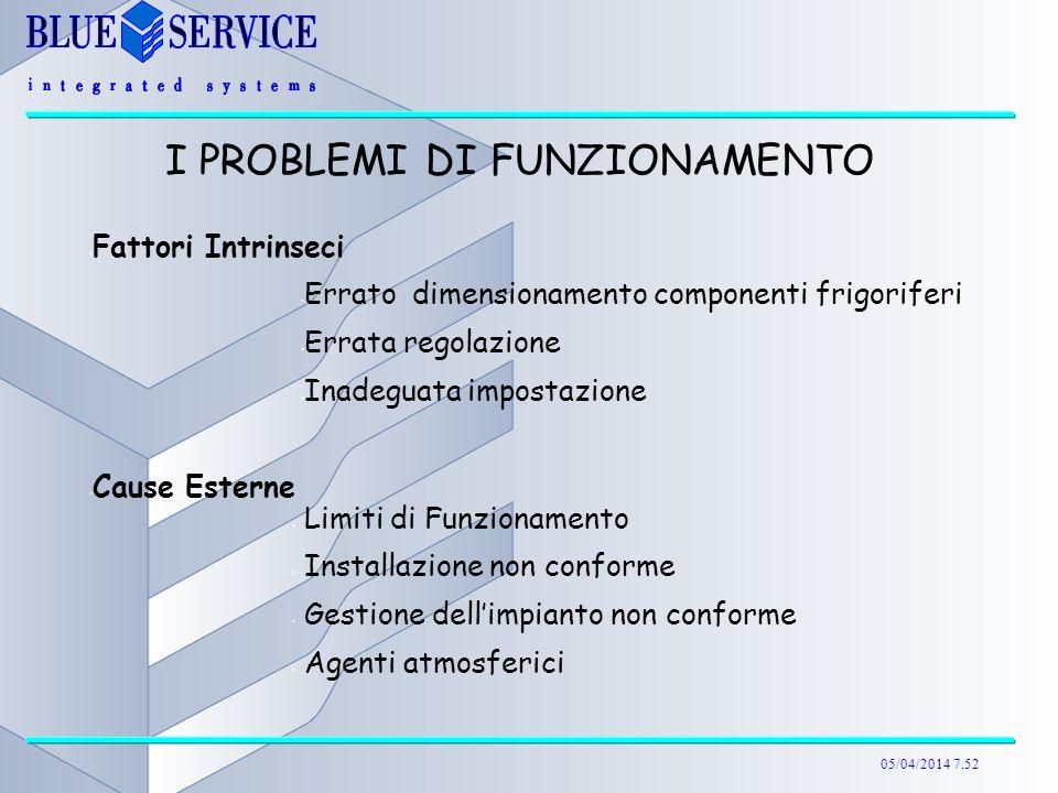 I PROBLEMI DI FUNZIONAMENTO