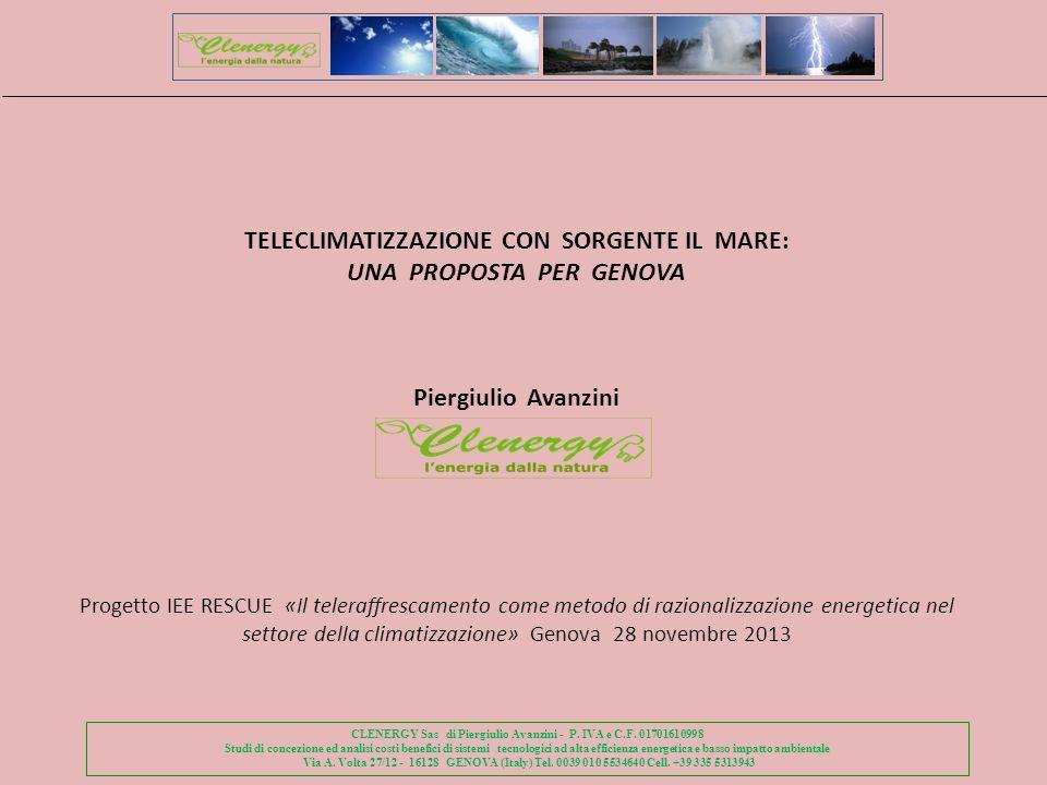 TELECLIMATIZZAZIONE CON SORGENTE IL MARE: UNA PROPOSTA PER GENOVA