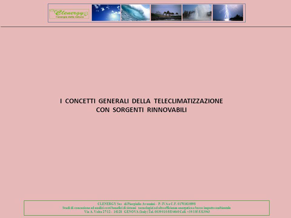 I CONCETTI GENERALI DELLA TELECLIMATIZZAZIONE CON SORGENTI RINNOVABILI