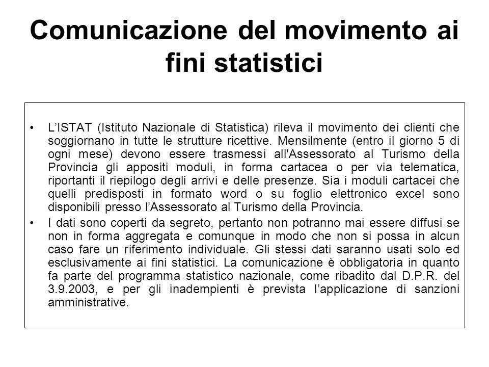 Comunicazione del movimento ai fini statistici