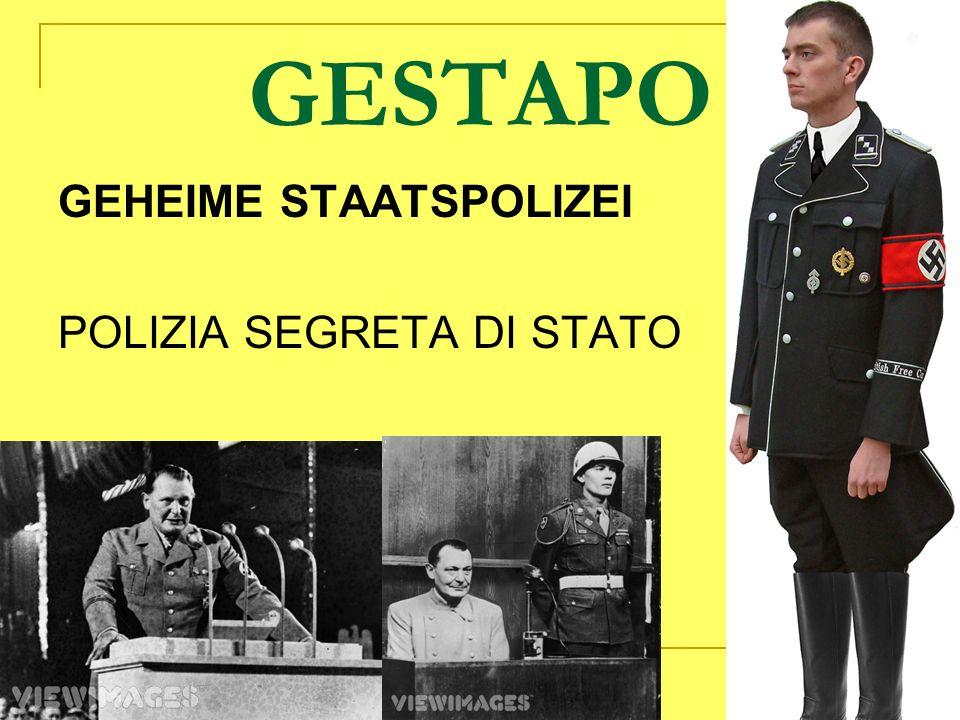 GESTAPO GEHEIME STAATSPOLIZEI POLIZIA SEGRETA DI STATO
