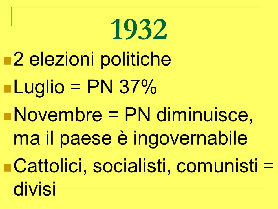 1932 2 elezioni politiche Luglio = PN 37%