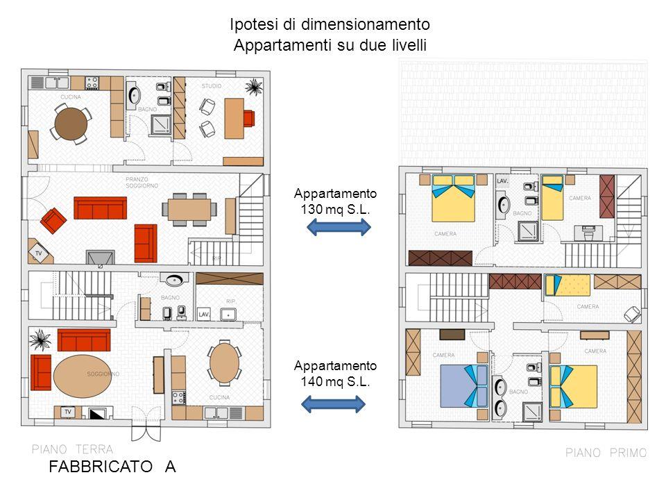 Ipotesi di dimensionamento Appartamenti su due livelli