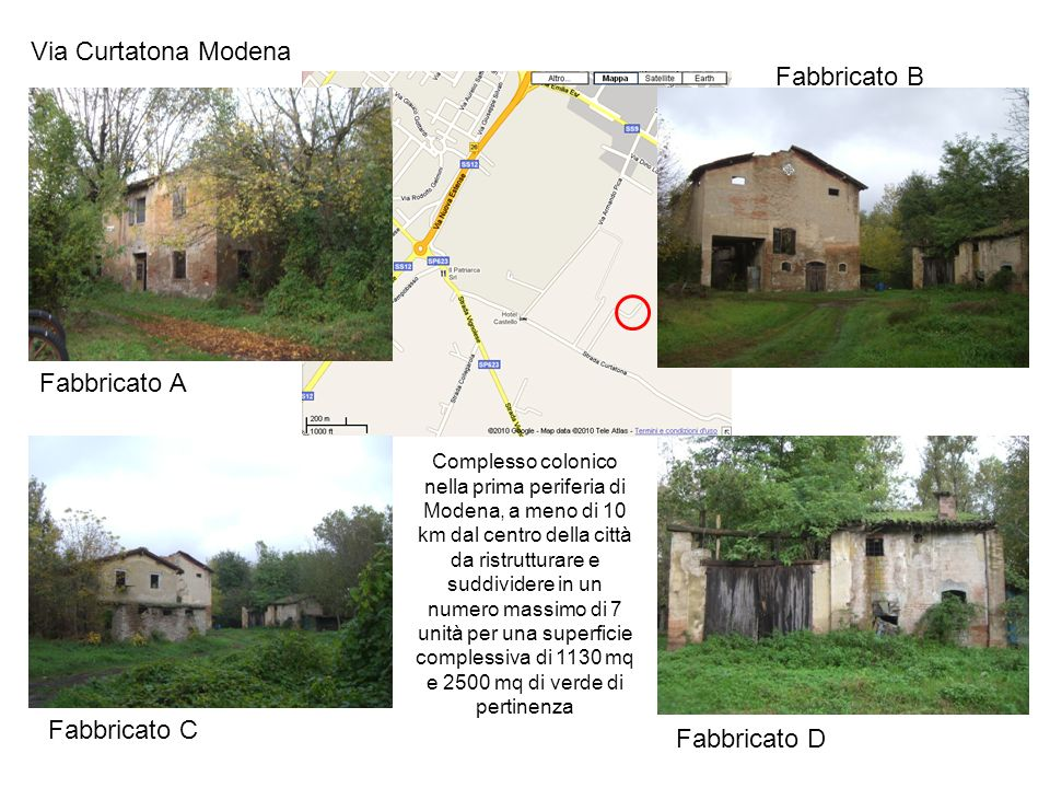 Via Curtatona Modena Fabbricato B Fabbricato A Fabbricato C