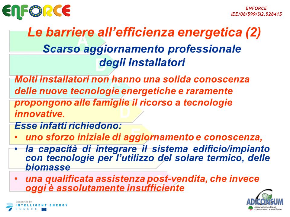 Le barriere all'efficienza energetica (2)