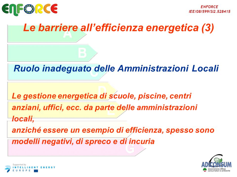 Le barriere all'efficienza energetica (3)
