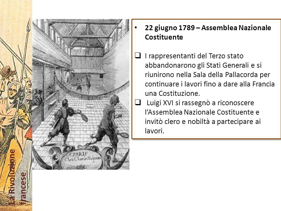22 giugno 1789 – Assemblea Nazionale Costituente