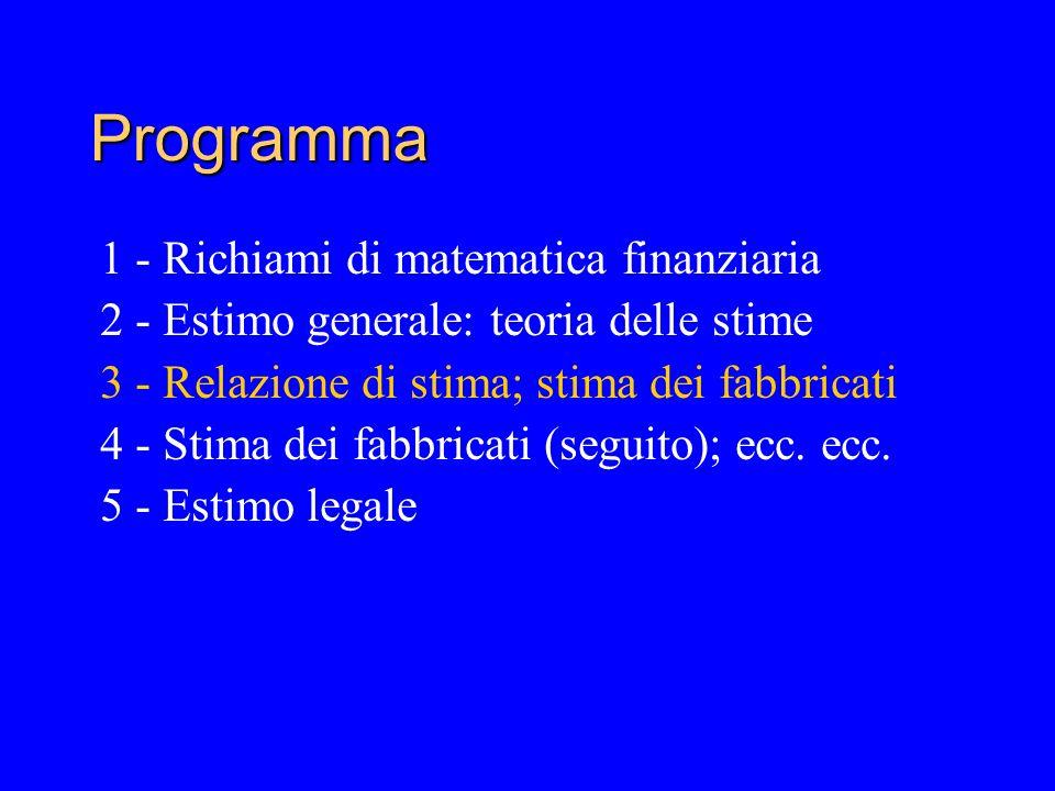 Programma 1 - Richiami di matematica finanziaria