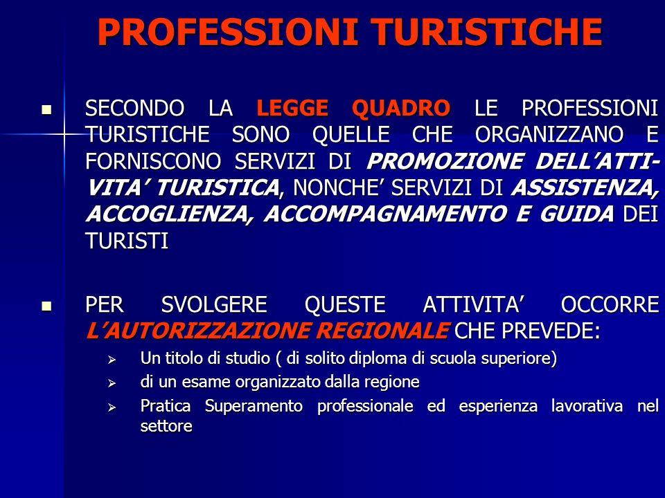 PROFESSIONI TURISTICHE