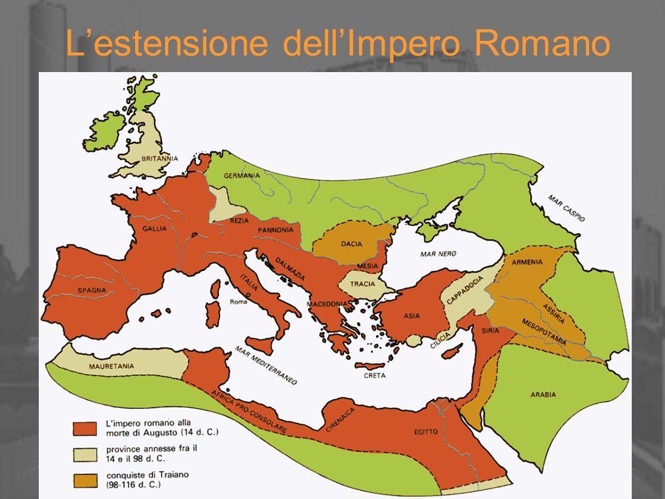 L'estensione dell'Impero Romano