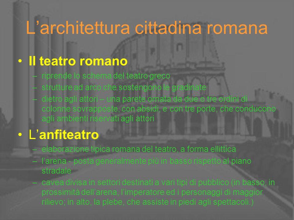 L'architettura cittadina romana
