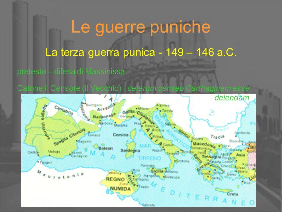La terza guerra punica - 149 – 146 a.C.