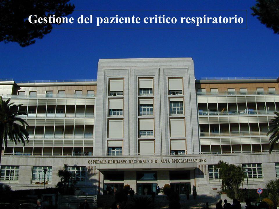 Gestione del paziente critico respiratorio