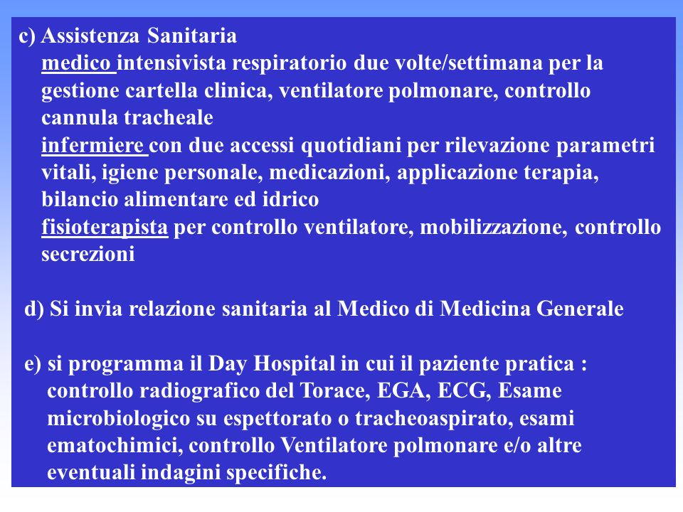 c) Assistenza Sanitaria