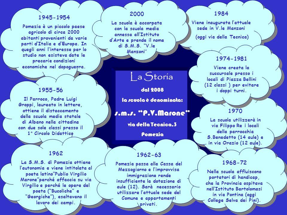 La scuola / storia La Storia s.m.s. P.V.Marone 2000 1984 1945-1954