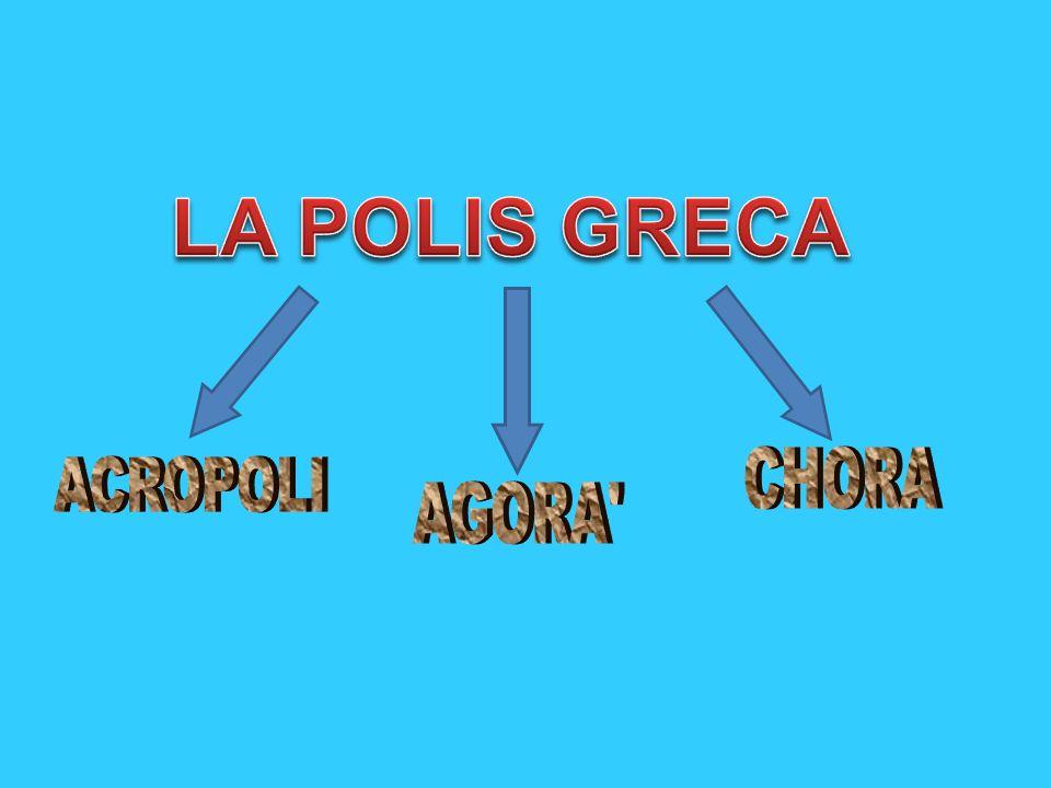 LA POLIS GRECA CHORA ACROPOLI AGORA
