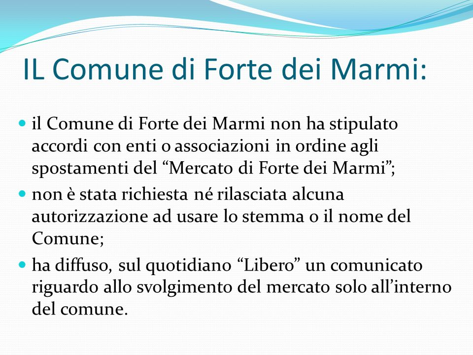 IL Comune di Forte dei Marmi: